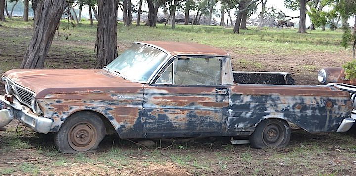abandoned f abandoned cars and trucks - 1965 Ford Ranchero